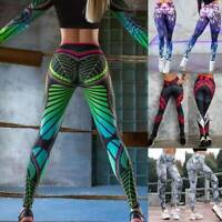 Women Push up Yoga Pants High Waisted Leggings Printed Booty Sports Fitness Gym