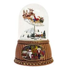 Santa & Trineo Mover bola de nieve (17cm)