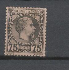 MONACO N°8 75c noir s.rose Neuf * Signé CALVES Cote 415€ P1975