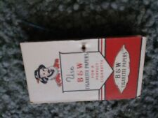 Vintage nos B & W Tobacco Company Cigarette Rolling Paper Book 1940's