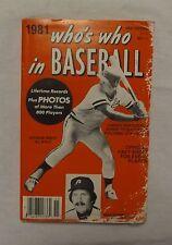 1981 Who's Who in Baseball George Brett 1980 Philadelphia Phillies Cover