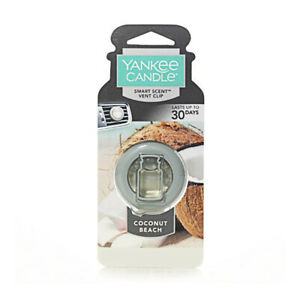Yankee Candles Car Freshener Smart-Scent Vent Clips, Coconut Beach