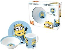 Despicable Me Minion 3 Piece Kids Ceramic Dinner Lunch Bowl Plate & Mug Gift Set
