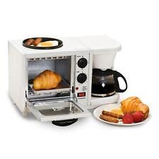 3-in-1 Breakfast Maker, Coffee Pot Machine, Toaster Oven, Griddle, Elite EBK-200