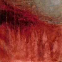 Original abstract oil and mixed media painting by Nalan Laluk: Red Tide