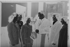 (2) B&W Press Photo Negative Man Religious Garmet Cross Necklace Women T2546