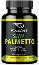 Rocufast Saw Palmetto Prostate Supplement for Prostate Health and Frequent