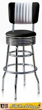 BS-29-CB Black Bel Air bar Stool Diner Counter Chair Fifties America Style USA