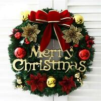 2020 Christmas Wreath Door Wall Hanging Garland Ornament Home Holiday Decoration