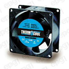 FAN AXIAL THERMOCOOL (80X80X38mm) 23/28 CFM SLEEVE 110V 60Hz #G8038HAS