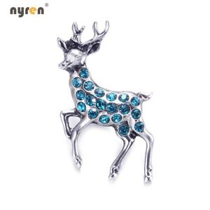 18mm Snap Button Metal Rhinestone Deer Snap Charms Multi Color Snap Jewelry 0143