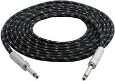 Pyle PCBL1F12 12 Ft 1/4'' To 1/4'' Guitar/Instrument Cable W/Fabric Shielding