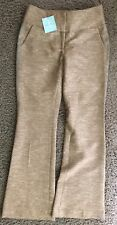 Tracy Reese Metallic Gold Pants WOOL-BLEND Racing Stripe Leg 2 Caramel 2Z1H94