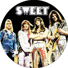 CHAPA/BADGE THE SWEET . pin button glam rock slade mud marc bolan alice cooper