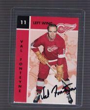Val Fonteyne Detroit Red Wings 1995/96 Parkhurst Signed Card W/Coa