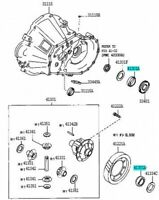 TOYOTA 90366-40094 Rear Differential Case Bearing Genuine Car Parts