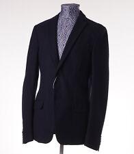 New Z ZEGNA Unstructured Navy Pique Cotton Jersey Blazer 34 R Sport Coat XS