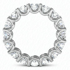 "White Gold Band 0.20 ct each ""U""shape 3.60 ct Round Diamond Eternity Ring 14K"