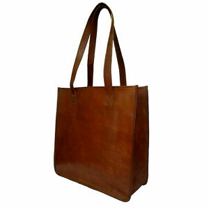 Vintage Genuine Leather Shoulder Purse Handbag Handmade Women Lady Shopper Bag