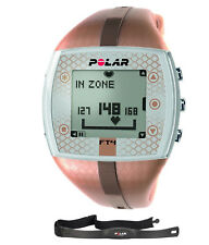 Brown Polar FT4 Heart Rate Monitor Sports Health Body Watch with Chest Strap