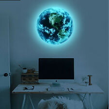 Luminous Earth Glow in the Dark Wall Stickers Home DIY 3d 10cm or 20cm or 30cm