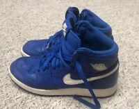 Nike Air Jordan 1 Retro High OG GS Hyper Royal 575441-401 Youth 6Y Women's 7.5