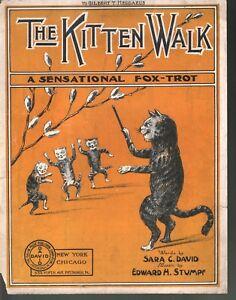 Kitten Walk 1917 Large Format Sheet Music