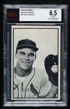 1953 Bowman Black and White Dick Sisler #10 BVG 6.5