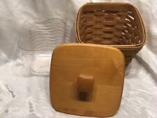Longaberger 2003 Classic Finders Keepers Basket Combo Protector Lid