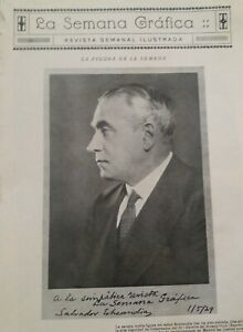 LA SEMANA GRÁFICA1929: Salvador Echendía Gal / Rotary Club España