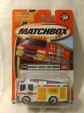Matchbox Flame Eaters Dennis Sabre Fire Truck #30 of75 Mattel 1:64 Scale Diecast