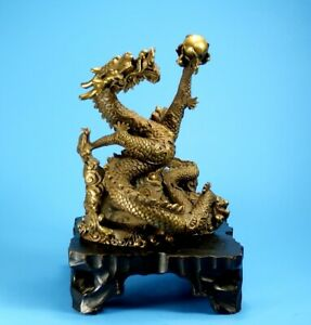 VERY FINE DRAGON STATUE FROM ASIAN JAPAN OR CHINA - SUPERB QUALITY !