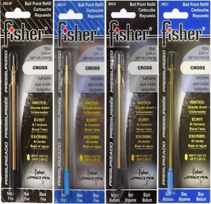 Fisher Space Pen Pressurised Ballpoint Refill - For Cross Pens - All Colours