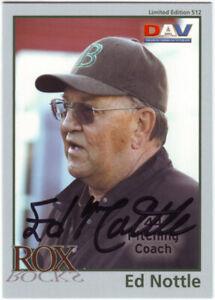 2010 DAV Ed Nottle Auto Autograph - Brockton Rox