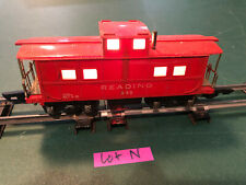 American Flyer Lines S Train 630 Red w/Black Base Lighted Caboose w/Link Lot N