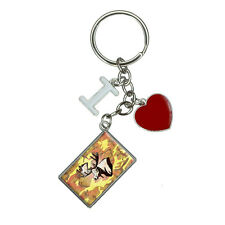 Moose Head Bust I Heart Love Keychain Key Ring