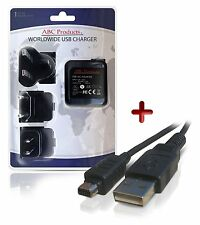 OLYMPUS TG-835, TG-850 DIGITAL CAMERA USB CABLE BATTERY CHARGER F-2AC F-3AC
