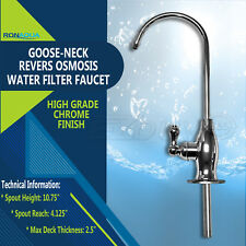 Goose-neck High Spout Cold Water Kitchen Drinking Faucet Polished Chrome