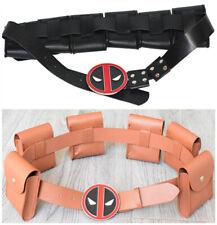 Movie Deadpool Belt Pocket Holster Cosplay Props Accessories Mens Costume