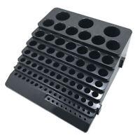 Screwdriver Drill Bit Collet CNC Tool Storage Holder Box Rack Organizer 85 Hole