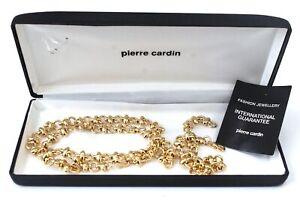 PIERRE CARDIN Gold Tone Fancy Chain Bracelet & Necklace Costume Set *BOXED - B84