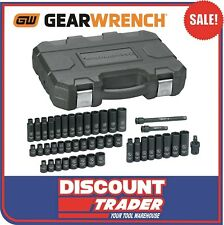 GearWrench 44Pc 3/8″Dr 6Pt Metric/SAE Standard/Deep Impact Socket Set 84916N