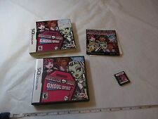 Monster High Ghoul Spirit (Nintendo DS, 2011) Nintendo DS game everyone DSI