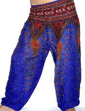 Sarouel Femme Pantalon Ethnique Aladin Harem Pant Aladdin yoga bleu blue
