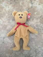 Ty Collectible Beanie Babies Curly Bear Retired Plush Baby with defects errors