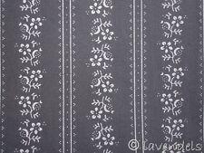 Dirndlstoff grau dunkelgrau ♥ Baumwolle Trachten Stoff Blümchen Schürzenstoff