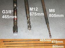 """2x hSS taraud extra long Extrêmement Long XXXL G3/8 """" 465mm M6 805mm"""