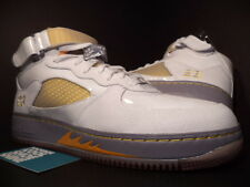 2008 Nike Air Jordan Force AJF 5 V Retro WHITE ORANGE MAIZE COOL GREY LOT 11.5