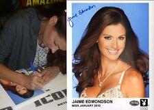 Jaime Edmondson Signed Playboy 8x10 Photo PSA/DNA COA Official Playmate Headshot