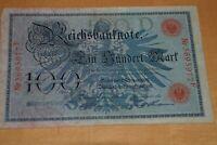 100 MARK  -1908  Rote Siegel- Ro33b Kriegsausgabe